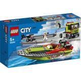 Cumpara ieftin LEGO® City Great Vehicles 60254 - Transportorul bărcilor de curse