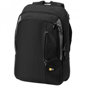 Rucsac Laptop, Case Logic by AleXer, RO, 17 inch, 400D nylon, negru, breloc inclus din piele ecologica si metal
