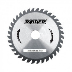 Disc fierastrau circular Raider RD-SB02, pentru lemn, 40 dinti, 230 mm