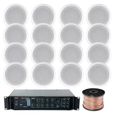 Sistem Sonorizare Multizona 16 Boxe Tavan foto