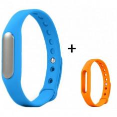 Bratara fitness iUni Mi1 Albastru + Curea de schimb Portocaliu