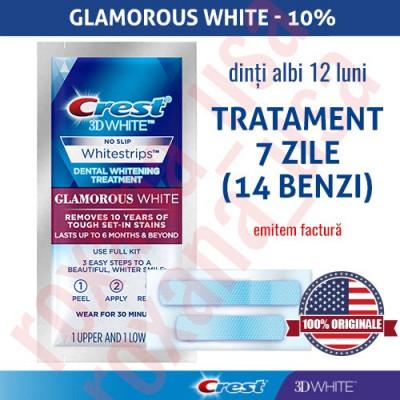 14x Benzi Albirea Dintilor Crest Whitestrips 3D Glamorous White foto