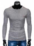 Cumpara ieftin Bluza pentru barbati, din bumbac, gri, simpla, slim fit - L103, XXL