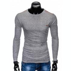 Bluza pentru barbati, din bumbac, gri, simpla, slim fit - L103