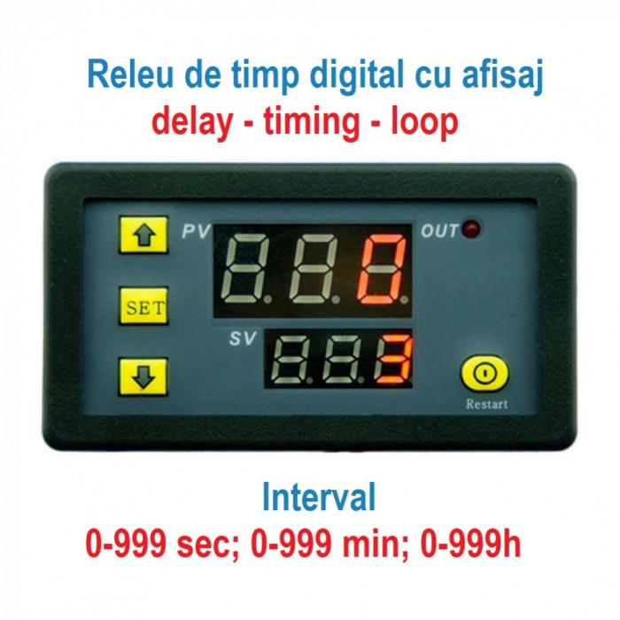 RELEU DE TIMP programabil modul temporizare kit TEMPORIZATOR timer digital 220V