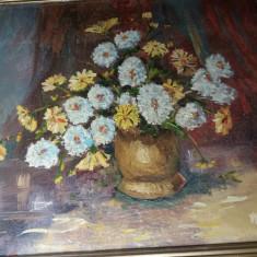 Tablou Foarte Vechi - Superb - Vaza cu flori - Semnat Morol