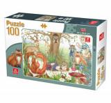 Cumpara ieftin Puzzle Animale de Padure, 100 piese