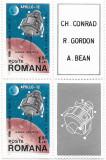 Apollo 12, 1969 (bloc de 2 cu viniete) - NEOBLITERAT, Spatiu, Nestampilat