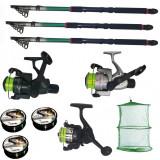 Cumpara ieftin Set pescuit cu 3 lansete de 3m, 3 mulinete, 3 fire Cool Angel si juvelnic
