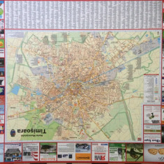harta municipiului timisoara banat mare perete aprox 105X85 cm in folie plastic