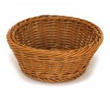Cos rotund servire paine, fructe, legume rezistent la apa, 18.5 x 7.5 cm culoare cafea, 014081