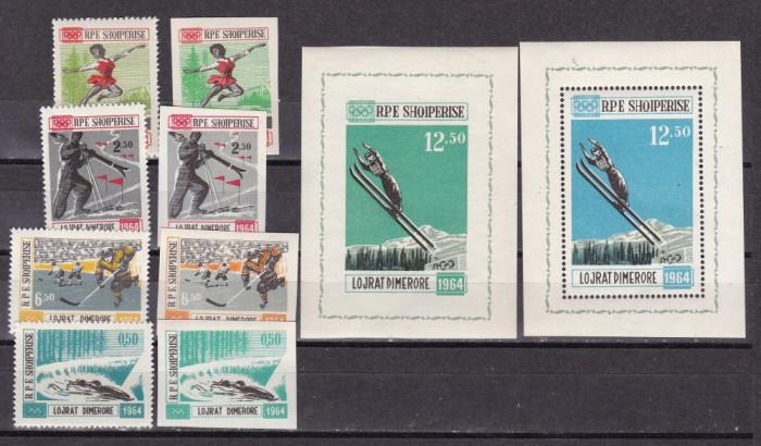 Albania 1963  sport  olimpiada  MI 793-802  MNH  w61