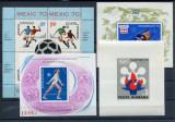 1970/79 ,  ROMANIA  , LOT 4 BLOCURI SPORT , 2 POZE  -  MNH, Nestampilat