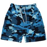 Pantaloni scurti baieti Army Sailin Zone, pentru plaja, poliester, imprimeu camuflaj, Multicolor
