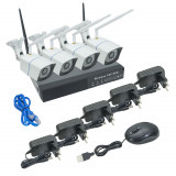 Resigilat : Kit supraveghere video PNI House WiFi441 NVR si 4 camere wireless, 1.0