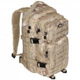 Cumpara ieftin Rucsac modular Assault, MFH, 30 litri, multiple buzunare, compatibil sistem hidratare, camuflaj vegetato desert