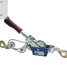 Troliu auto manual Carpoint portabil 800daN, cablu dublu 5mm (3/6)x(153cm)