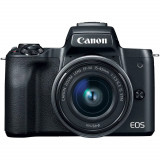 Aparat foto Mirrorless Canon EOS M50 24.1 Mpx Kit Black 15-45 IS STM