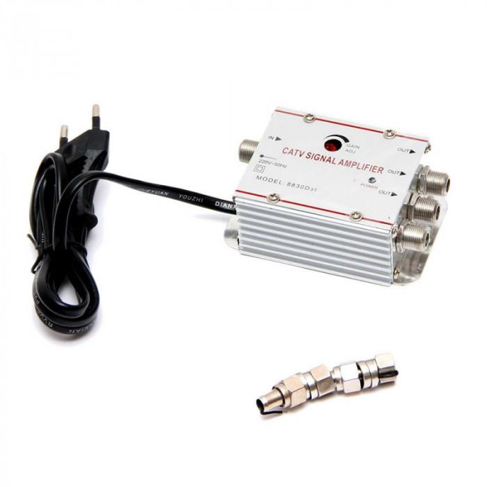 Amplificator TV cablu, splitter 3 iesiri - ElectroAZ