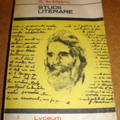 STUDII LITERARE - G. IBRAILEANU
