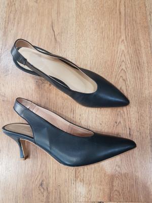 LICHIDARE STOC!Superbi pantofi eleganti dama noi piele naturala integral 39,5/40 foto
