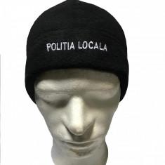 Caciula inscriptionata POLITA LOCALA, culoare neagra