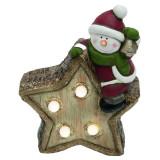 Figurina luminoasa Stea, LED alb cald, 19 cm, alimentare baterii, ceramica