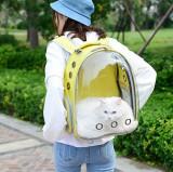 Rucsac transport animale de companie, tip panoramic, galben, Gonga