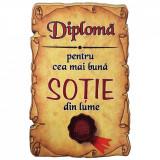 Magnet Diploma pentru cea mai buna SOTIE din lume, lemn, Alexer