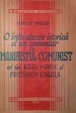 O INTRODUCERE ISTORICA SI UN COMENTAR LA MANIFESTUL COMUNIST AL LUI KARL MARX SI FRIEDRICH ENGELS - CHARLES ANDLER