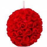 Lumanare cu trandafiri 3D, 4,5×4,5 cm, rosu