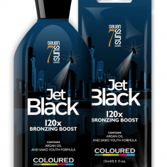 Lotiune bronzanta, 7 Suns, Coloured, Jet Black 120X, 15ml/250ml