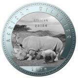 Zambia 1000 Kwacha 2014 UNC Rinocer 40mm argintiu