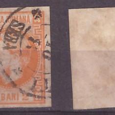 1868 - Carol I, 2 bani stampilat
