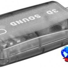 Placa sunet USB 2.0, A tata > 2 x 3.5 mm stereo