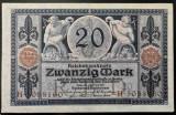 Bancnota istorica 20 MARCI - GERMANIA, anul 1915  *cod 500 B  = EXCELENTA!