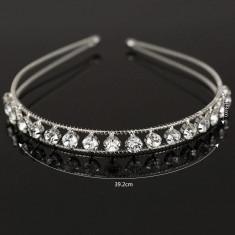 Diadema tip cordeluta cu cristale tip Swarovski