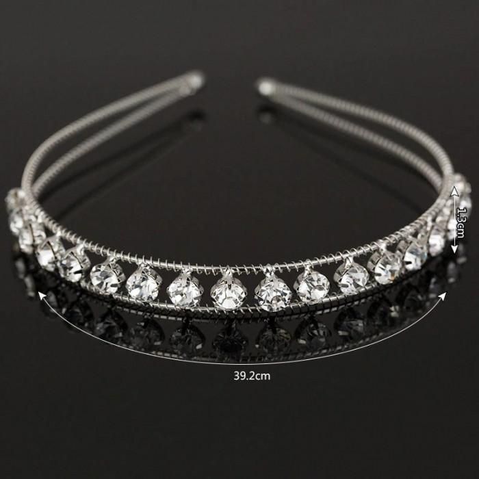 Diadema tip cordeluta Crystal