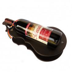 Suport din lemn chitara mare cu sticla de vin CDT-42-OSH, Alexer