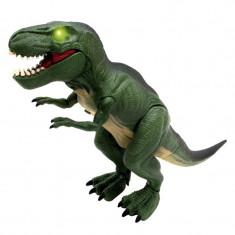 Dinozaur T-Rex, lumini si sunete, 29 cm, 3 ani+, marime medie, Oem
