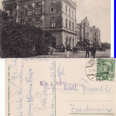 Gara Itcani (Bucovina ,Suceava )-cenzura WWI, WK1, rara, Circulata, Printata