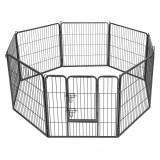 Tarc pentru animale de companie, Negru, 80 x 80 cm
