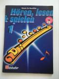 Carte manual de flaut transversal, 56 pagini, incepatori, muzica
