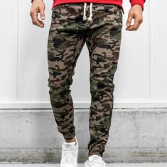 Pantaloni joggers bărbați camuflaj-maro Bolf 0367