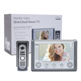 Resigilat : Interfon video SilverCloud House 715, ecran LCD 7 inch, camera de exte