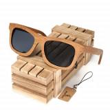 Ochelari de soare din lemn Bobo Bird BG003, lentila gri Wooden Lux