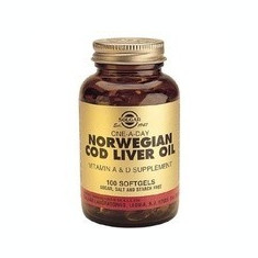 Cod Liver Oil (Ulei din Ficat de Cod) Solgar 100cps Cod: slg12