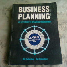Business planning - Bill Richardson (Planificarea afacerii)