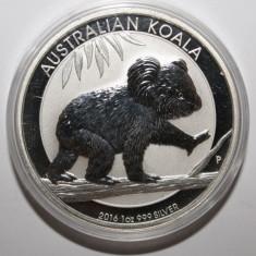 AUSTRALIA 1 DOLLAR 2016 KOALA . O UNCIE ARGINT 0.999 . PROOF ., Australia si Oceania