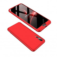 Husa Telefon Plastic Huawei P20 360 Full Cover Red